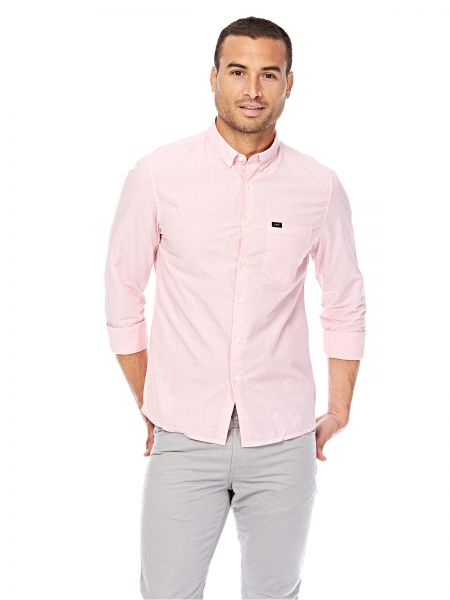 33dd245620 Lee Slim Button Down Shirt for Men - Faded Pink