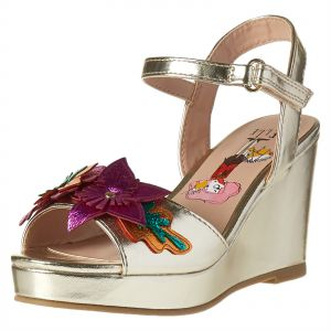 7781c885f315a Elle Wedge Sandals for Girls - Gold