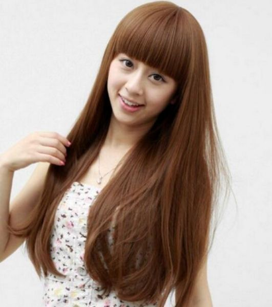 Souq Fashion Invisible Curly Fluffy Brown Hair Extensions For