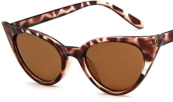 13a0e18573 Cat Eye Sunglasses Vintage Mod Style Retro Kurt Cobain Sunglasses Leopard