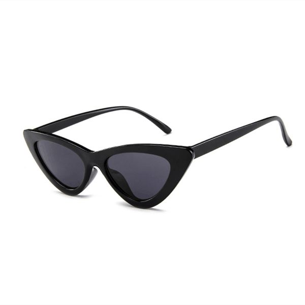 8d687ef5307 Retro Vintage Narrow Cat Eye Sunglasses for Women Clout Goggles Plastic  Frame