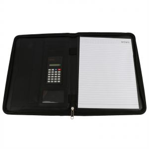 Business Organizer With Pad Zipper Black
