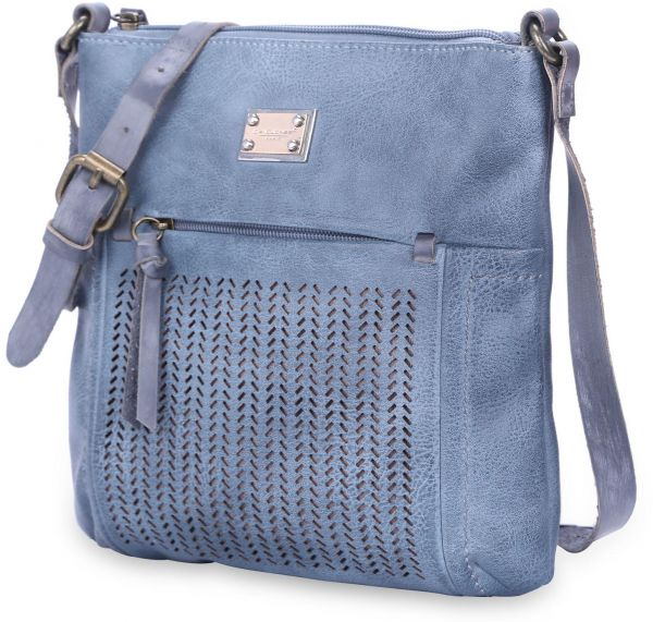 DAVIDJONES women hollow out crossbody bag mini shoulder bags-BLUE. by David Jones, Handbags -. 33 % off