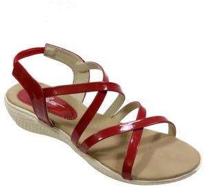 7c0128c67 AletaWoman Leah Red Comfort Sandal For Women