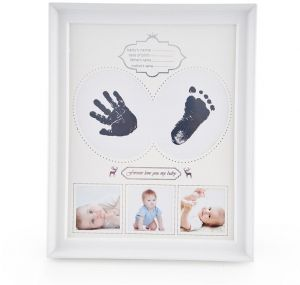 a9bbb3ead ... Safe For Baby Clean-Touch Ink Pad, Unique Baby Shower Gifts for  Registry, Memorable Keepsake Box Decorations, Room Wall or Nursery Decor  (White)