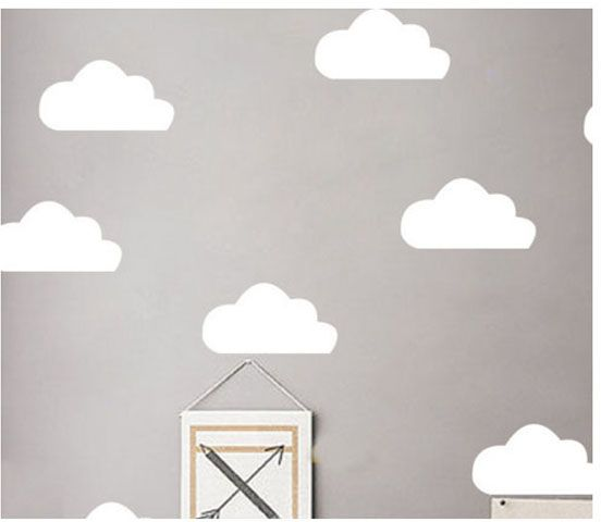home decoration white clouds sky wall stickers easy remove living