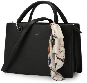 DAVIDJONES women handbag faux leather female messenger bags large lady  scarve tote bag girl brand shoulder bag f27fc7fd595b1