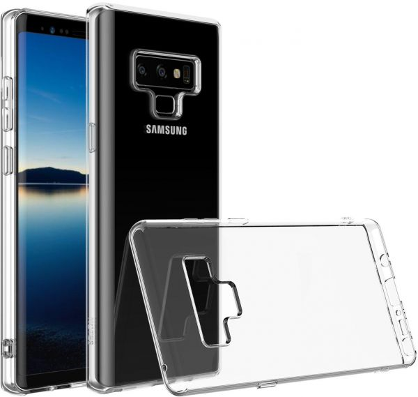 timeless design 49a50 d4658 Samsung Note 9 Case Clear Hybrid Soft TPU Back Cover Phone Case For Samsung  Galaxy Note 9 - Clear