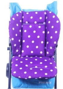 Universal Baby Stroller Seat Liner Infant Car Cushion 100 Cotton Padded Purple Round Dot