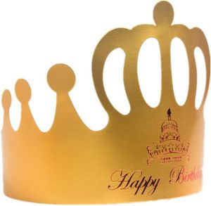 ac3323bd1b5 20 pcs Gold Card Birthday Crown Cap Happy Birthday Letter Handmade Paper  Hats Kids Birthday Baby Shower DIY Decor Party Supplies