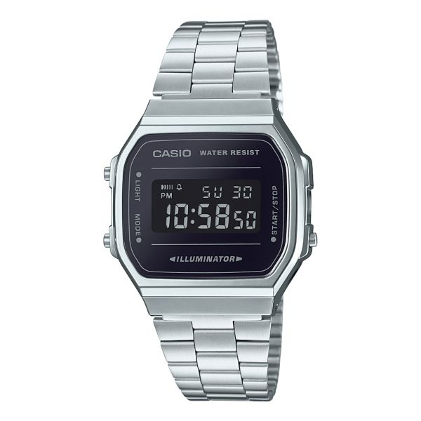 Casio Casual Watch For Unisex Digital Stainless Steel - A168WEM-1DF ... 30e5e89651