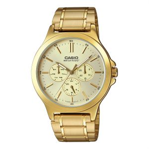 712d3db33 Casio Men's Gold Dial Stainless Steel Band Watch - MTP-V300G-9AUDF