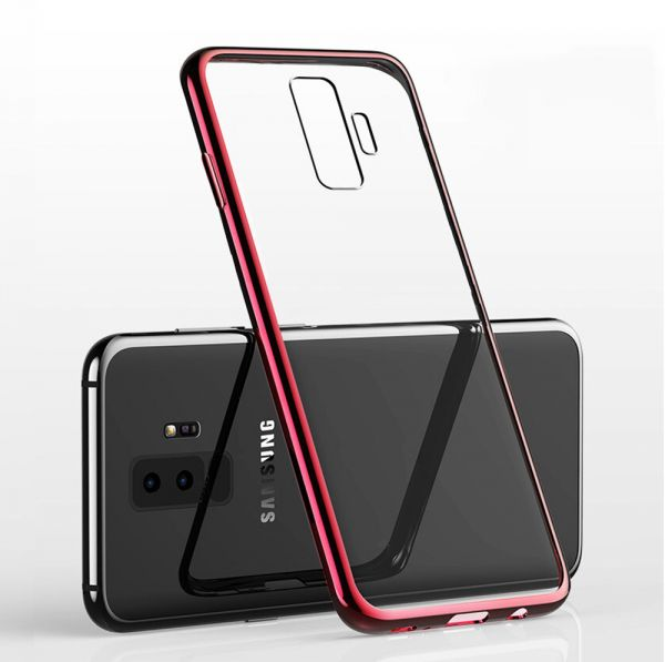 Samsung Galaxy S9 Plus Case, Meidom Crystal Clear Anti-yellow Ultra Thin Silicone Gel Soft Case Cover Shockproof for Samsung Galaxy S9 Plus - Red | Souq - ...