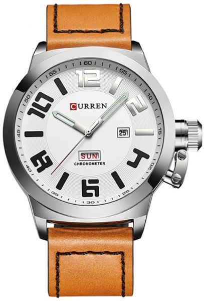 Curren Casual Watch For Men Analog Leather - 8270