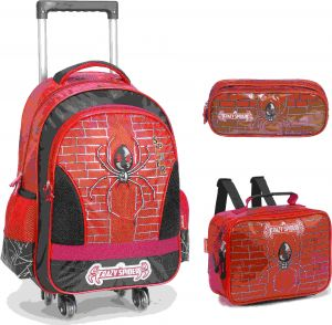 e58eeddd17eea Crazy spider School Bag for 3 - 12 Ages Kids Children Boys Backpack Trolley  Bags