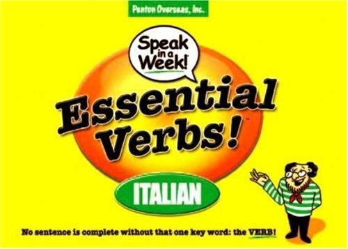 Essential Verbs! Italian : No Sentence Is Complete Without That One Key  Word: The Verbs!