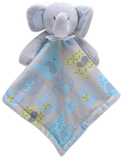 Baby Multi Use Security Blanket Plush Toy Bib Soft Stuffed Animal