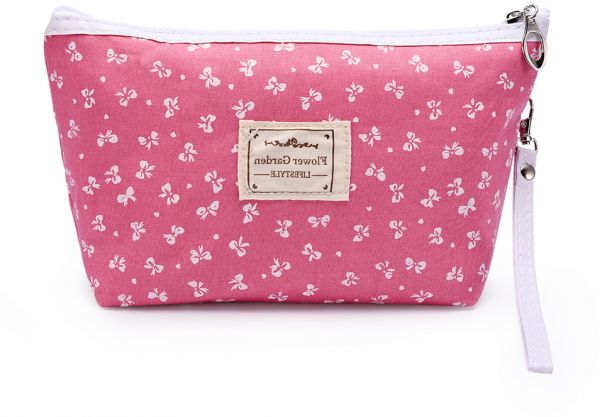 b3638022c8 Fabric Cosmetic Bags Portable Travel Toiletry Pouch Makeup Organizer Clutch  Bag with Zipper