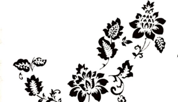 Home Decoration Removable Wallpaper Mural Black Butterfly Flower