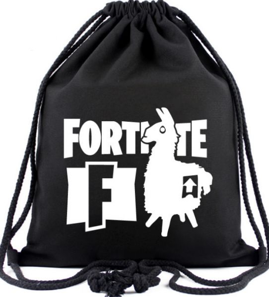 8b95947bb3cc game Fortnite lama glama drawstring backpacks outdoor sports black canvas  lightweight drawstring backpack
