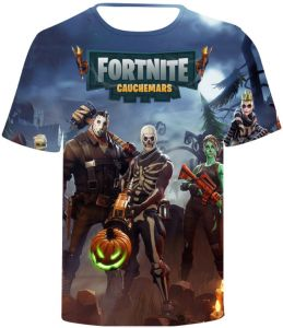 Fortnite 3D printing T-shirt round neck short sleeve fashion T-shirt 4cd341590a7
