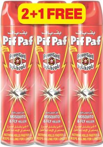 Pif paf Mosquito & Fly Killer - Pack of 3 Pcs (3 x 400ml)