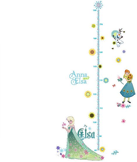 New Princess Elsa Height Measurement Stickers Baby Growth Chart