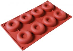 Silicone Donut Molds Non Stick Doughnut Candy Muffin Cups Cake Baking Tray