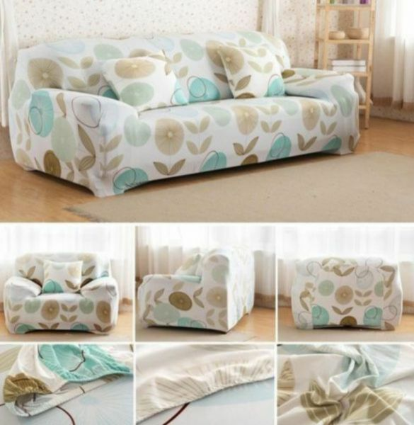 Of Consist Three Seater Sofa Cover And 4 Sofas For One Slipcover Set 5 Pieces Lycra Material