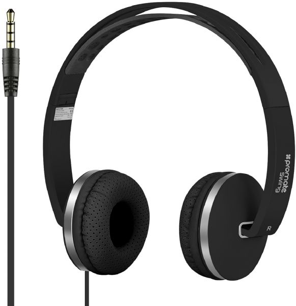 aae4aedfbf2 Promate Headphones, Premium Hi-Fi Stereo Noise Cancelling Wired Headphones  with Foldable Earpads, Anti-Tangle Cord and Built-In Microphone for Travel,  Work, ...