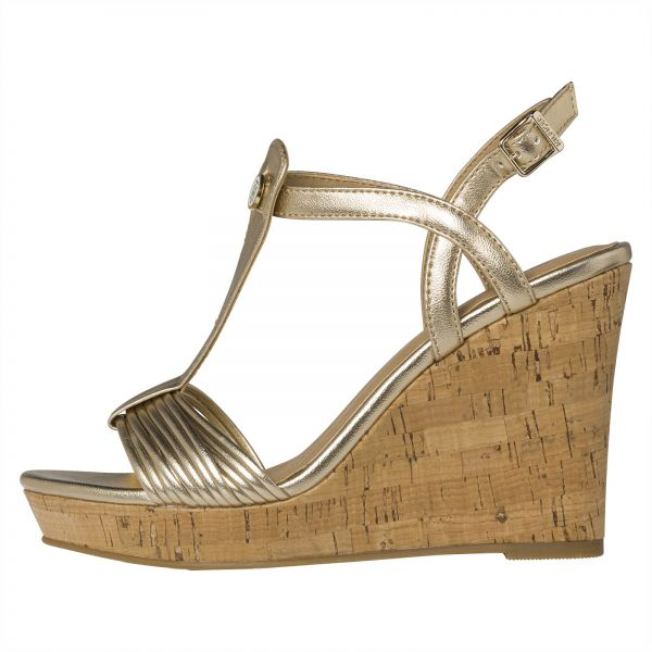 1be8a1019bf532 Tommy Hilfiger Wedges for Women - Gold