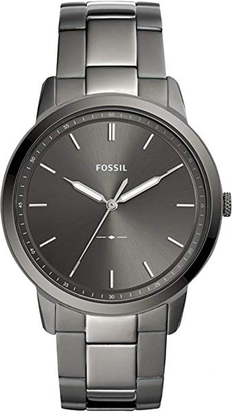 382c67ebe13 Fossil Minimalist Men s Gray Dial Stainless Steel Band Watch ...