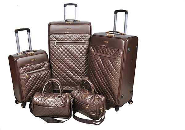 Track Luggage Trolley Bags Set of 5 Pieces 806c673ab42a6