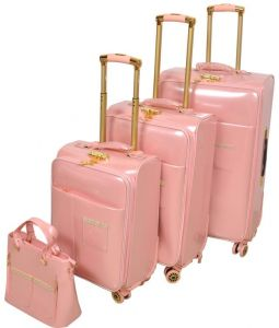 Track Luggage Trolley Bags Set of 4 Pieces d098bb7b9afc3