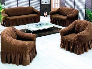 Sofa Cover Set , Turkish Model, 4 Pieces, Cosist Of Sofa Cover For Three  Seaters And Sofa For Two Seater And 2 Sofas Cover For One Seater