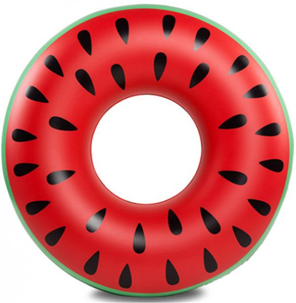 Safety Inflatable Floats Pool Toys Swimming Ring with Handle for Adult, Outer diameter 90 cm (Watermelon)