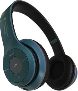e898048e5a3 B460 Wireless Bluetooth Headset with Memory Card Reader and FM Radio JBl  Design - Dusty Blue