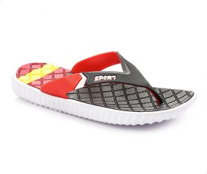 9a923f7b4 Grinta M4479 Flip Flop Slippers For Men - Black And Red
