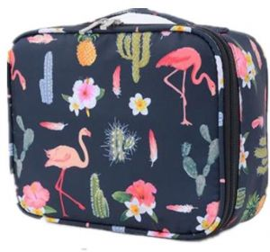 Multifunction Portable Travel Toiletry Bag Cosmetic Makeup Pouch Toiletry  Case Wash Organizer Flamingo Black 2aacd52b5e021