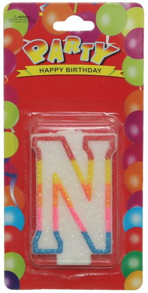Birthday Candle Letter N