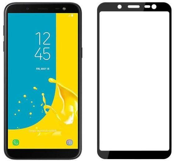 Tempered glass screen protector for samsung galaxy j6 2018 - Black 5D