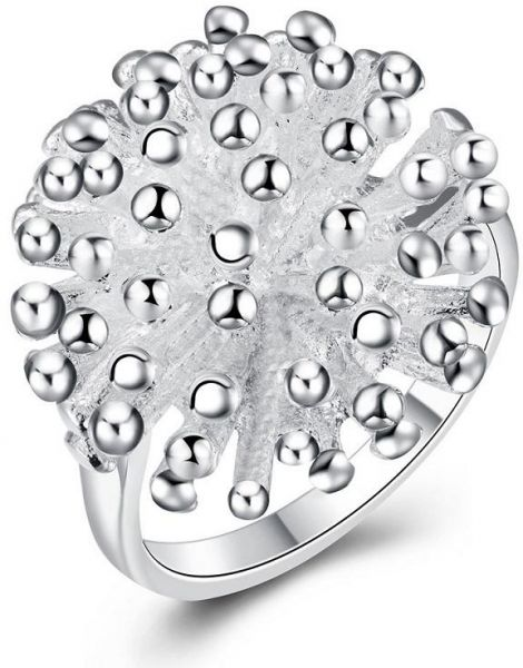 Fireworks   Style 18K Silver Plated Ring for Women, Size 8 US
