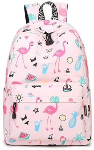 Cute Flamingo Backpack Water Resistant Laptop Backpack Bookbags School Bags  Travel Daypack For Girls Women 09f9c108cf9aa