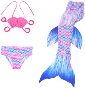 Pony tailed little swimsuit girls business! think