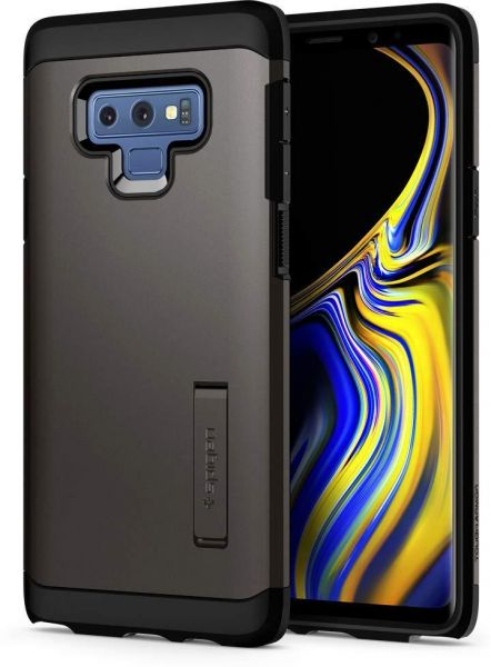 best loved e6b75 9cc10 Galaxy Note 9 Case , Spigen Tough Armor with Kickstand and Extreme Heavy  Duty Protection Gunmetal