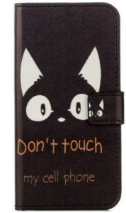 Samsung Galaxy A5 (2017 Version) Painted Pattern PU Leather case Cover Card Slot Wallet Stand Holder -Cute Cat