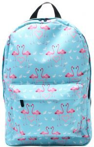 db1604931de4 17 Inch Deanfun Backpack Flamingo Printing Blue Schoolbag for Teenage  Student All-match Canvas Fashion School Bag for Adolescent Girls Outdoor  Travel ...