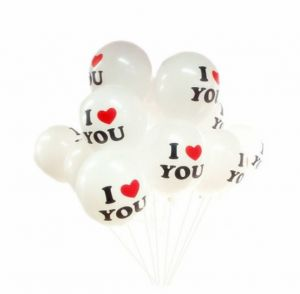 Set Of 10pcs Balloons Valentines Decorations 12 Lnch L LOVE YOU Heart Shape Latex For Christmas Wedding Various Holiday Party Supplies Birthday