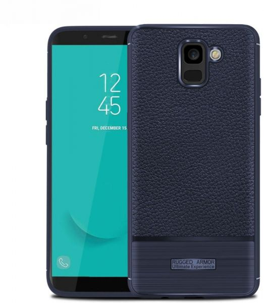 size 40 88839 36fdc Samsung Galaxy J6 2018 Leather Skin pro case cover - Blue.