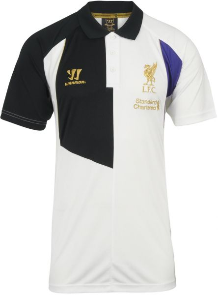 Men s Warrior Liverpool LFC 3RD TRG POLO SHIRT (WHITE BLACK)  5c2c24192